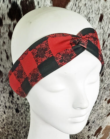 Buffalo Gal's Buffalo Plaid Turban Headband