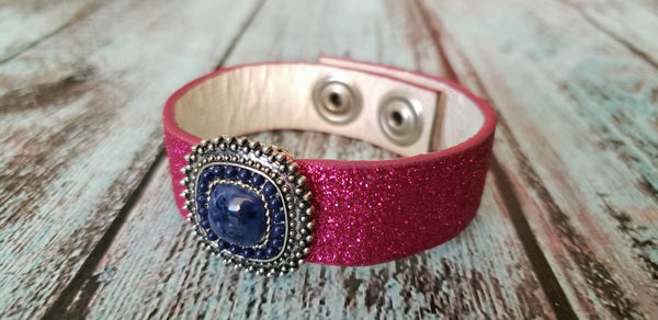 Pink and Blue Cuff Bracelet