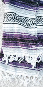 Grey and Purple Mexican/Falsa Blanket