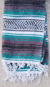 Teal Mexican/Falsa Blanket