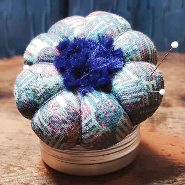 Sew Organized Pin Cushion - Zia Cross with Blue Blossom