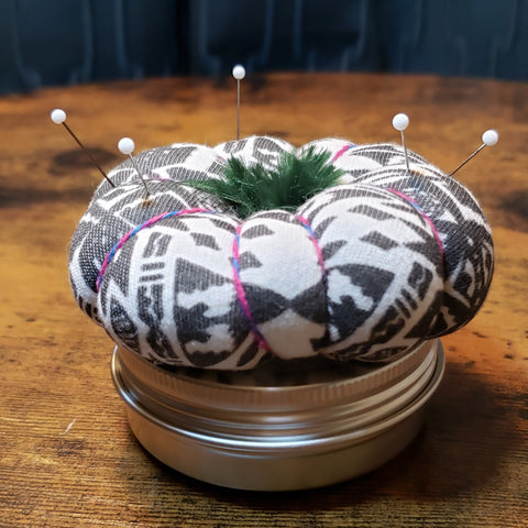 Sew Organized Pin Cushion - Aztec with Green Blossom
