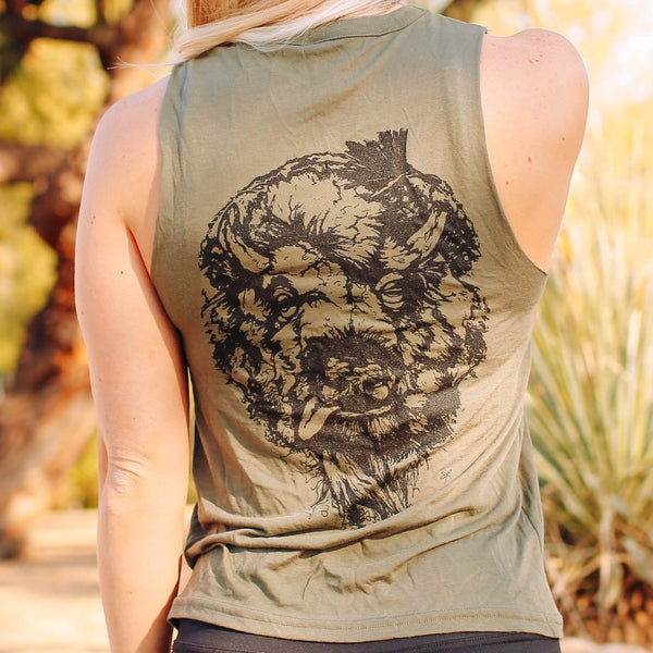 Tattered Buffalo Cut Neck Tank