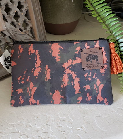 Buffoulage Zipper Pouch with Orange Tassel