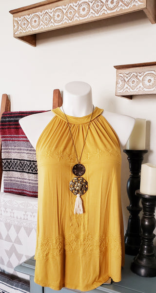 Medium Cream Tassel Necklace