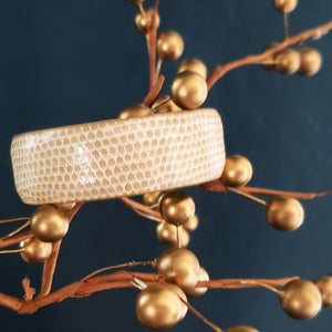 Neutral Faux Lizard Cuff Bracelet
