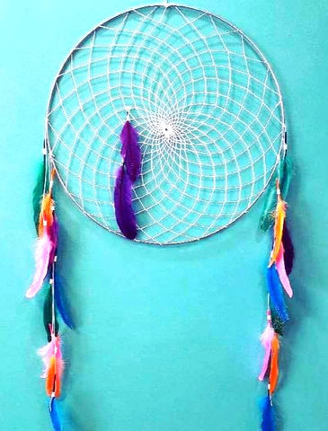 Glitter Feathers Dream Catcher