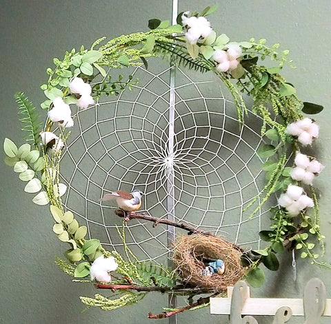 Cotton Wreath Dream Catcher
