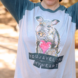 You Javelina My Heart Baseball T-shirt
