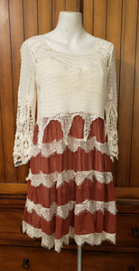 Crocheted Bohemian Dress