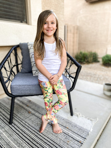 Spring Poppy Youth Leggings