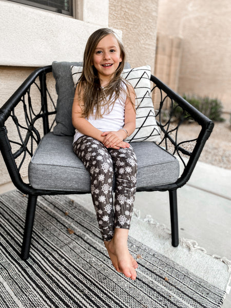 Grey Winter Youth Leggings