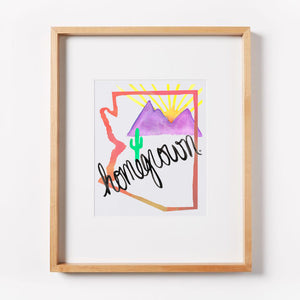 Arizona Homegrown (Pink) Print