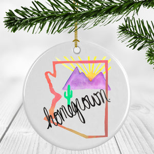 Arizona Homegrown (pink) Ornament