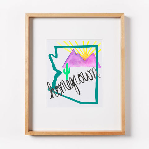 Arizona Homegrown (Teal) Print