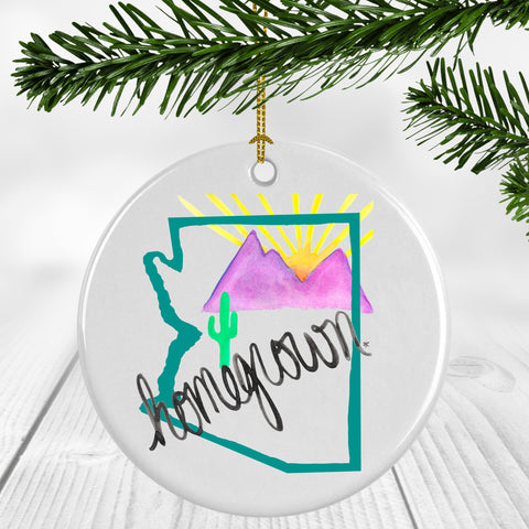 Arizona Homegrown (teal) Ornament