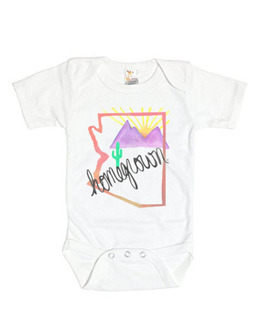 Arizona Homegrown (Pink) Baby Onesie