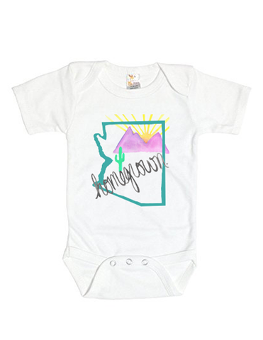 Arizona Homegrown (Teal) Baby Onesie