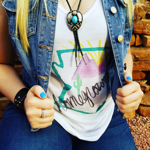 Arizona Homegrown (Teal) V-Neck Tank
