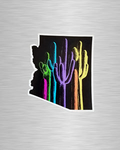 Arizona Palette on Black Vinyl Sticker/Decal