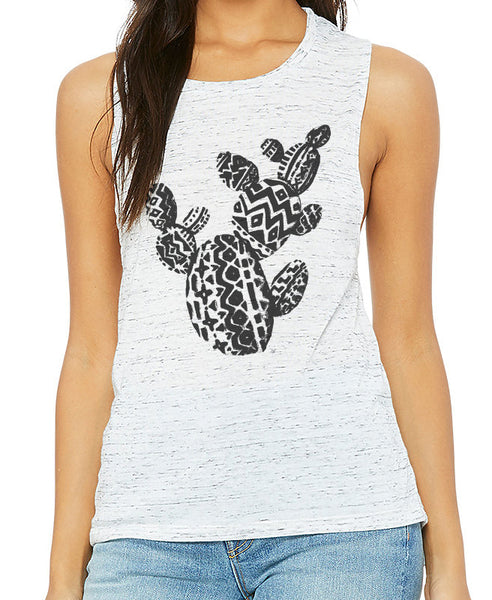 Aztec Prickly Pear Muscle Tank