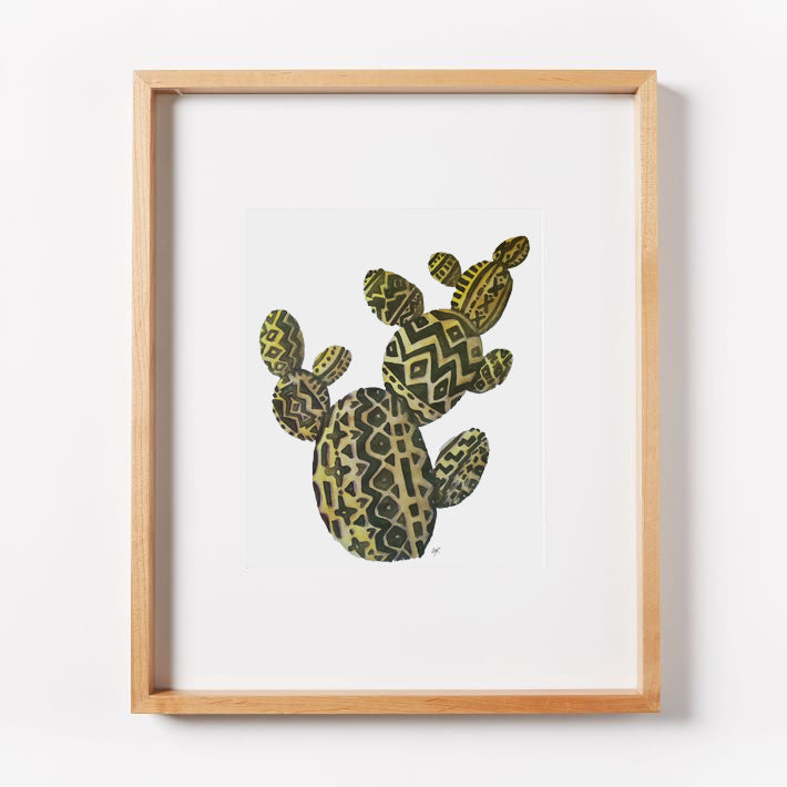Aztec Prickley Pear Print