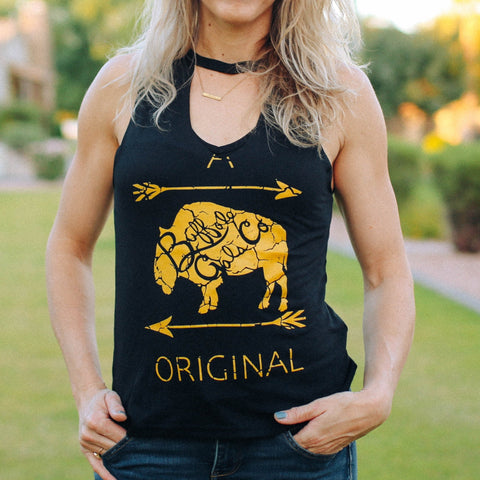 Vintage BGC Original on Black Cut Neck Tank