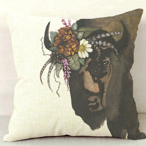 Buffalo Gal Throw Pillow