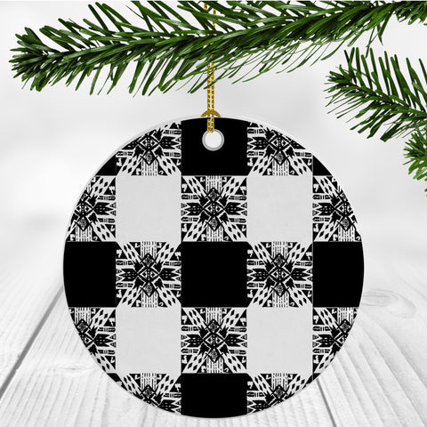 Buffalo Gals' Plaid Ornament