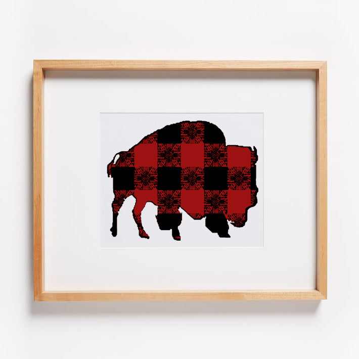 Buffalo Gals' Plaid Buffalo Print