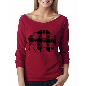 Buffalo Gals' Plaid Buffalo Sweat Shirt