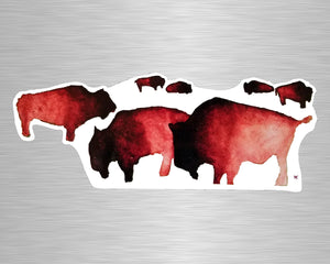 Buffalo Herd Vinyl Sticker/Decal