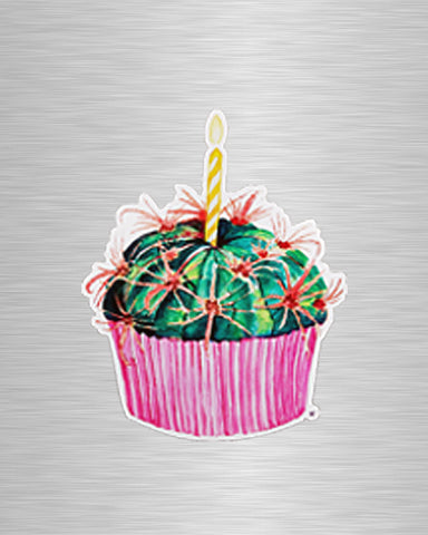 Cactus Cupcake Vinyl Sticker/Decal