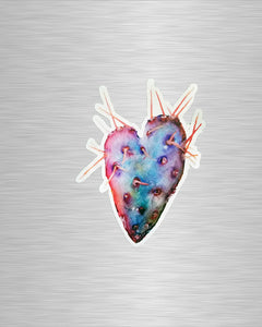 Cactus Heart Vinyl Sticker/Decal