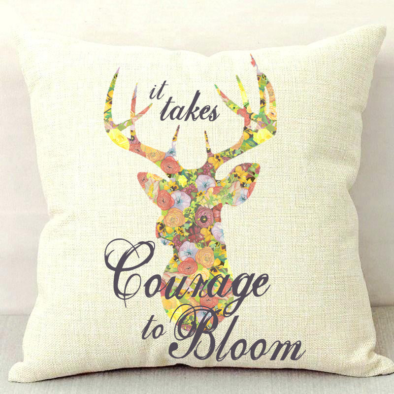 Courage to Bloom Throw Pillow