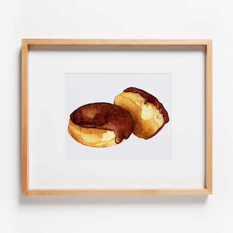 Custard Filled Donuts Print
