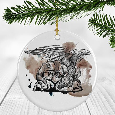 Dragon on Paint Ornament