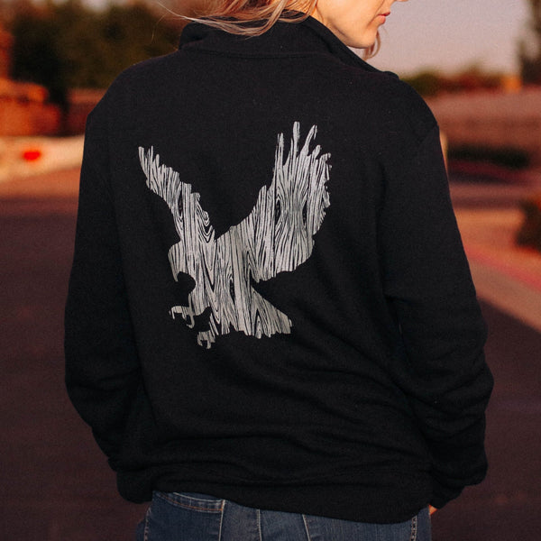 Wood Grain Eagle Unisex Pullover