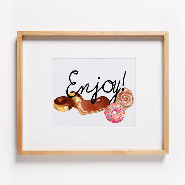 Enjoy Lots Donut Print