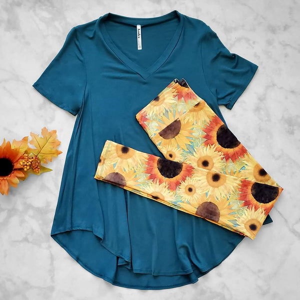 Sunflower Field Leggings