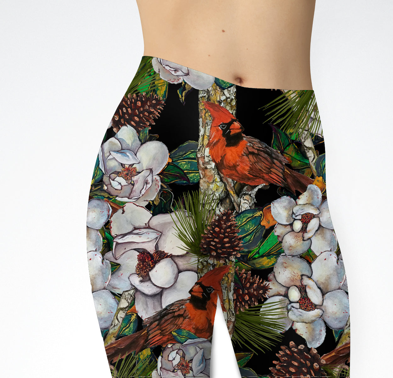Festive Magnolia Leggings