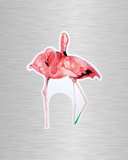 Flamingo Cuddles Vinyl Sticker/Decal
