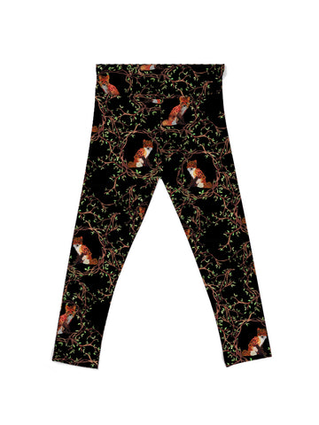Floral Fox Youth Leggings