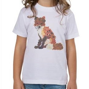 Floral Fox Toddler T-Shirt