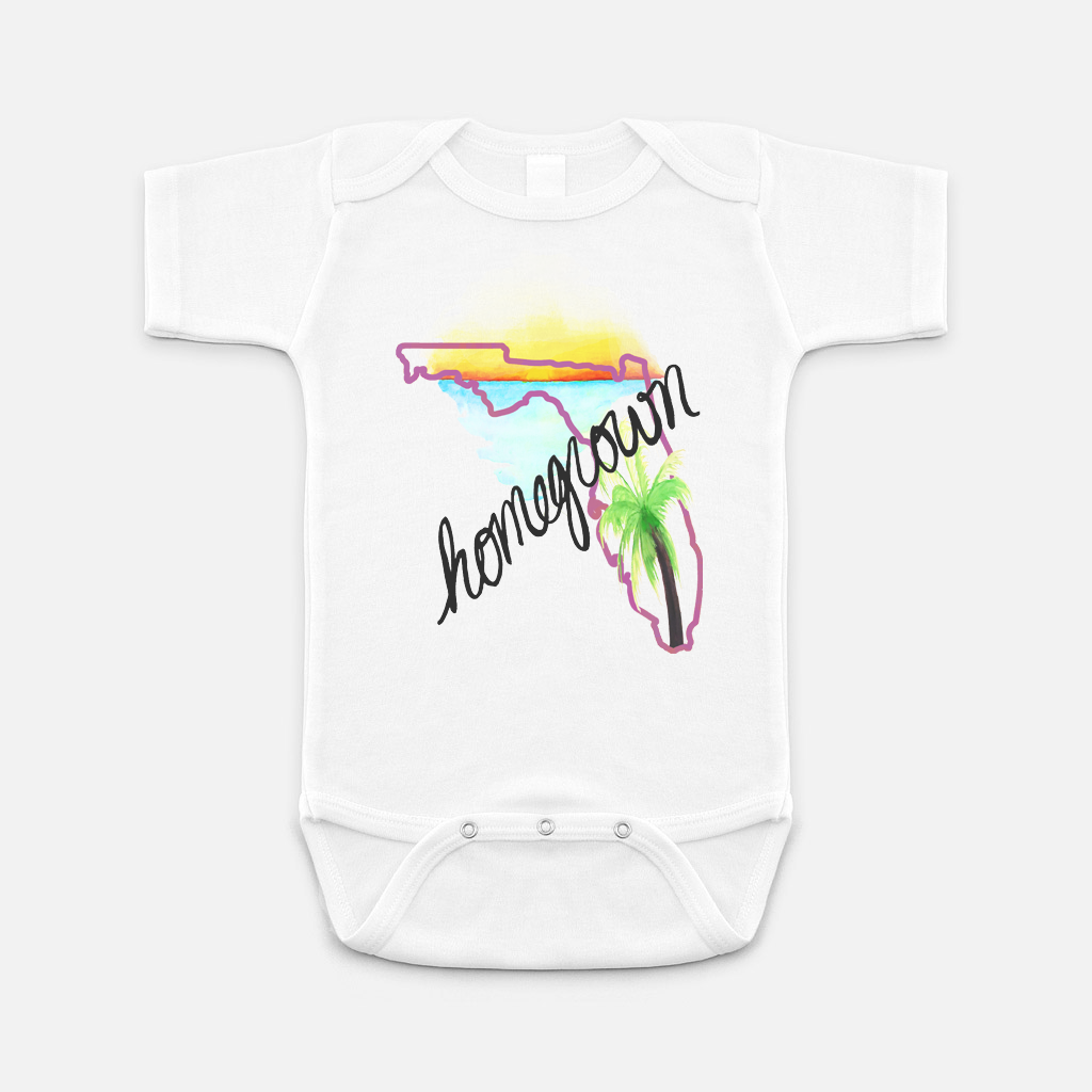 Florida Homegrown Baby Onesie