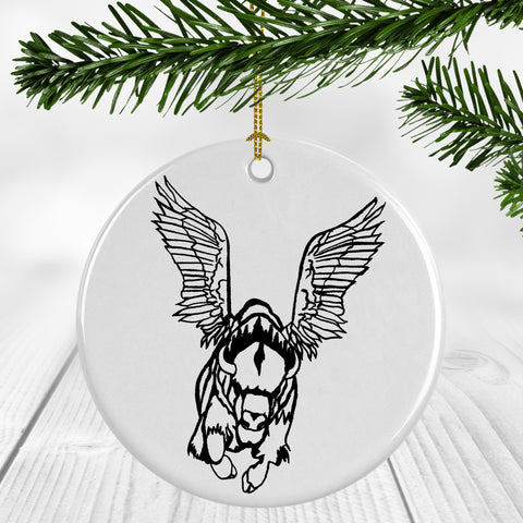 Flying Buffalo Ornament