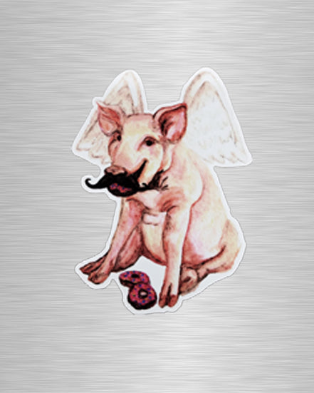 Flying Pig Vinyl Sticker/Decal