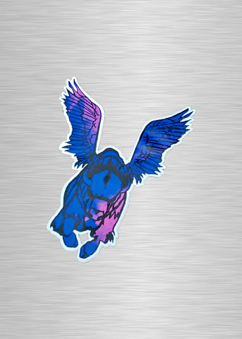 Flying Buffalo Tie Dye Vinyl Sticker/Decal