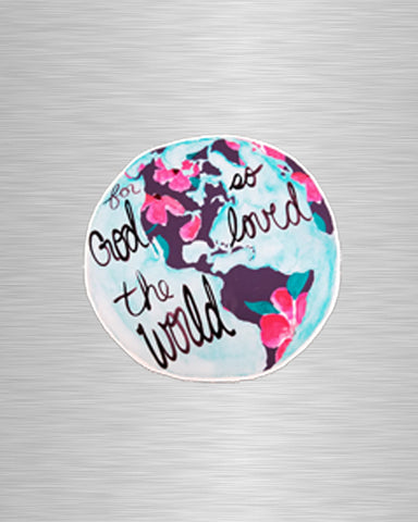 For God so Loved the World Vinyl Sticker/Decal