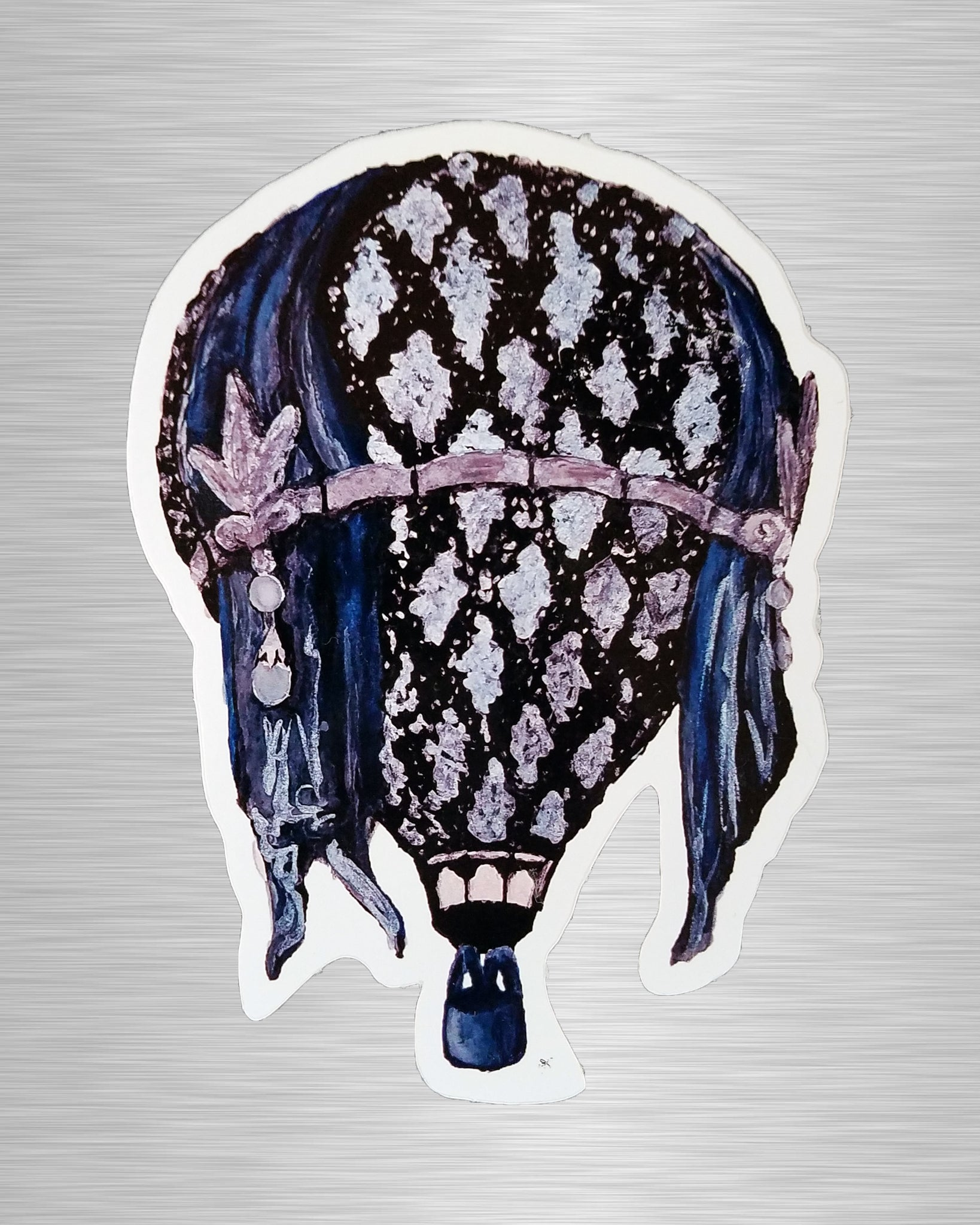 Great Gatsby Blue Lace Balloon Sticker/Decal